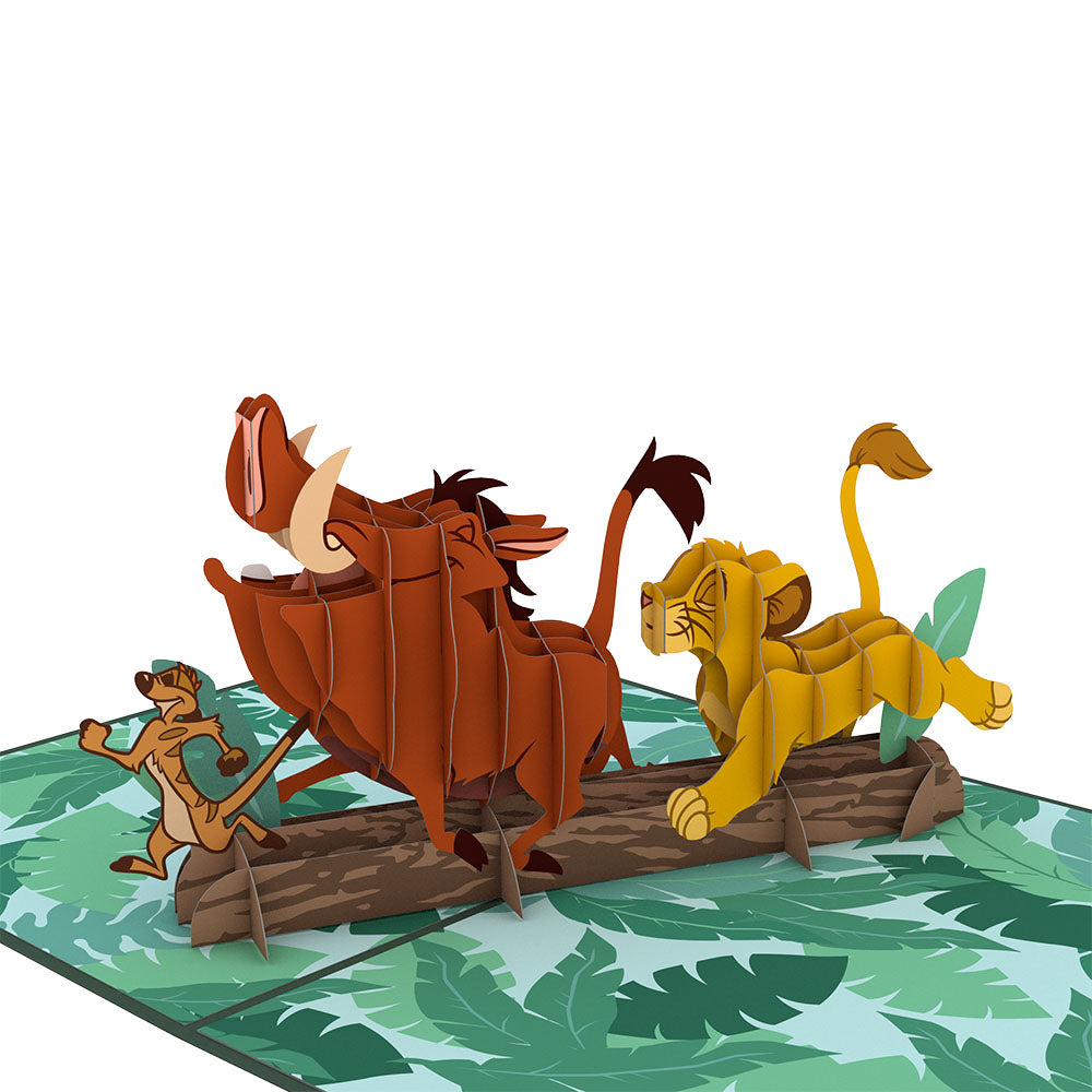 Disney's The Lion King No Worries Pop Up Card