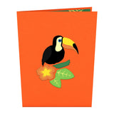 Toucan pop up card - thumbnail