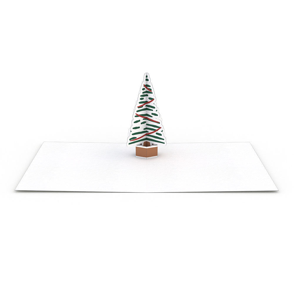 Mixed 20 Set: Christmas Trees pop up card