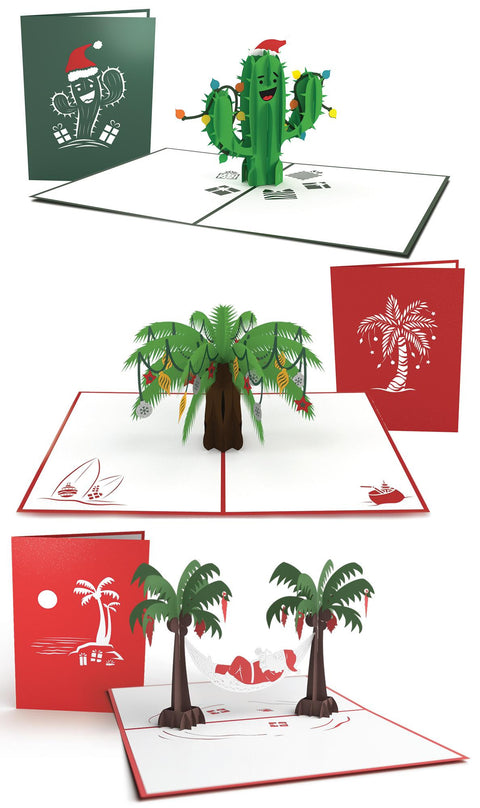 Tropical Christmas Pop-up 3 Pack greeting card -  Lovepop