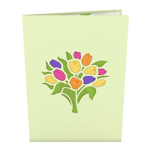 Tulip Bouquet Pop up Card