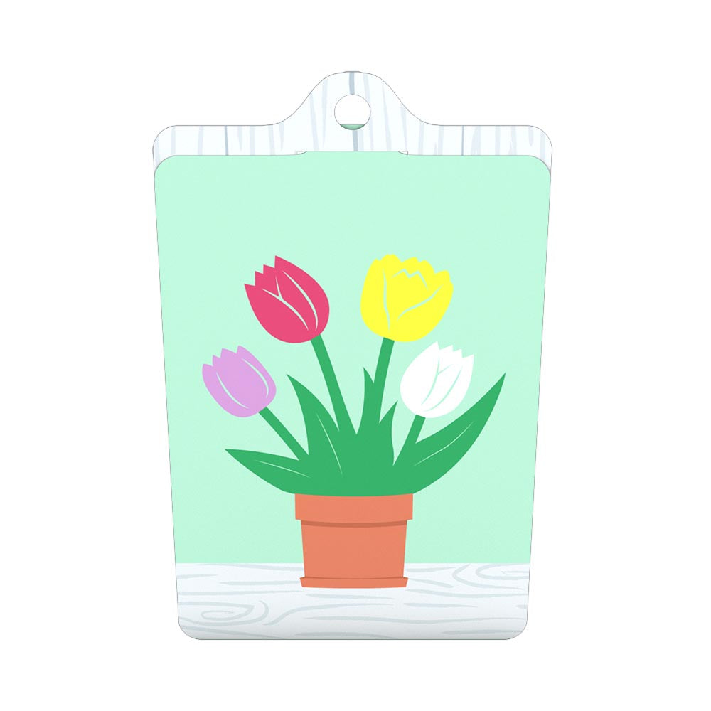 Tulips Gift Tags 4 Pack birthday pop up card