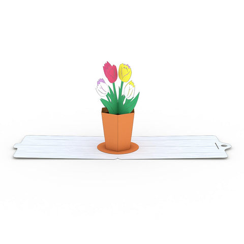 Tulips Gift Tags 4 Pack greeting card -  Lovepop