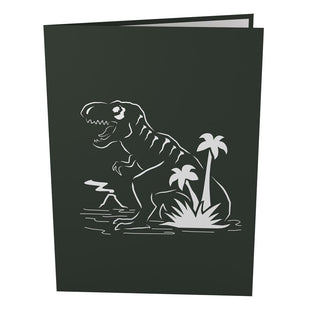 Tyrannosaurus Rex Pop Up Birthday Card