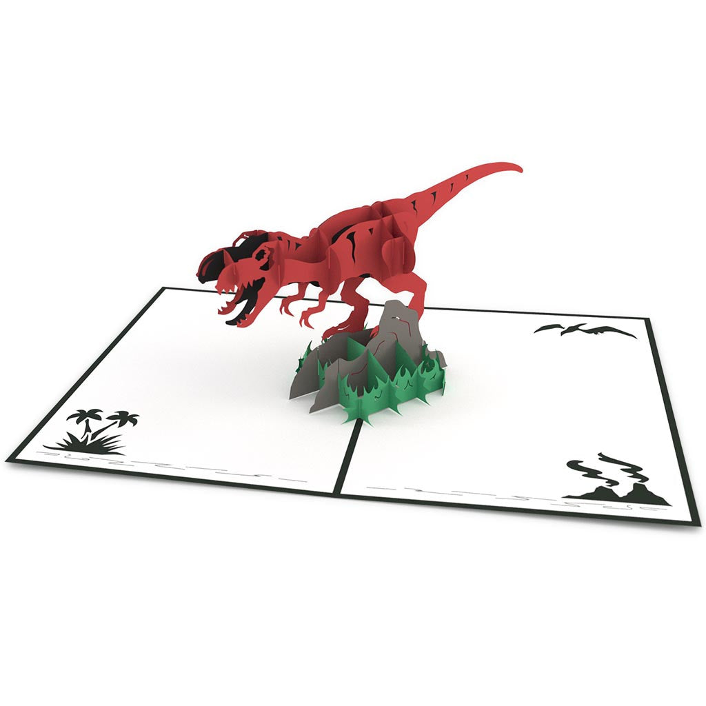 Tyrannosaurus Rex birthday pop up card