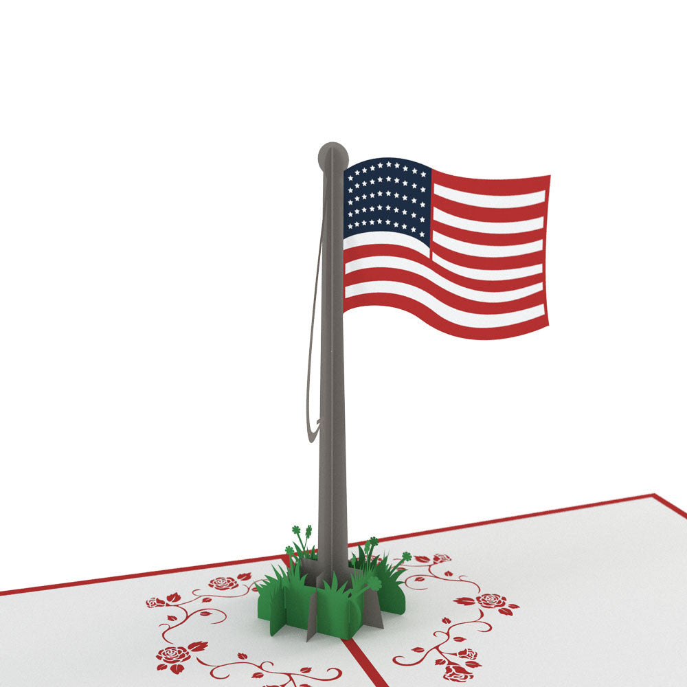 American Flag pop up card