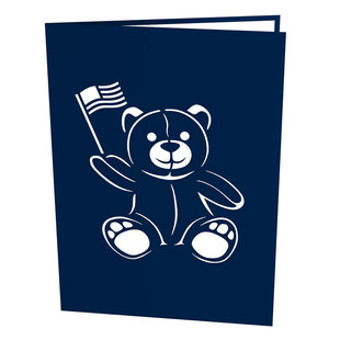 USA Bear Pop Up Fourth of July Card