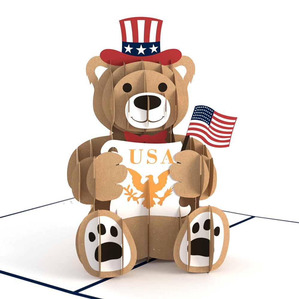 USA Bear pop up card