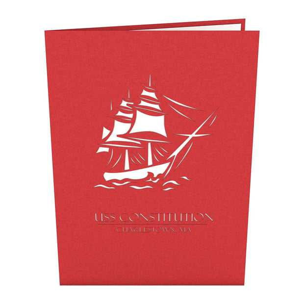 USS Constitution Pop Up Thank You Card