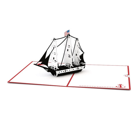 USS Constitution Pop Up Thank You Card greeting card -  Lovepop