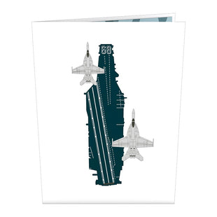 U.S. Aircraft Carrier Pop up Card
