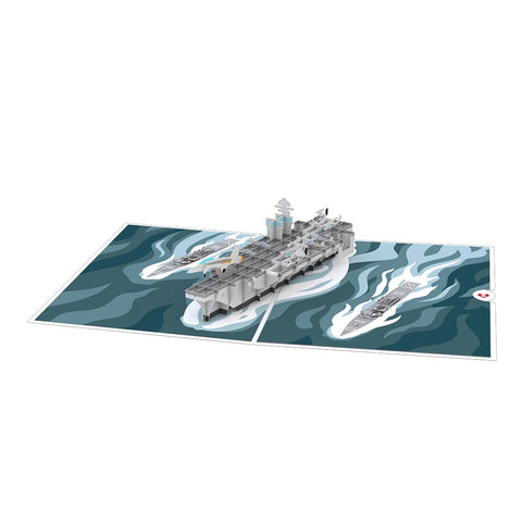 U.S. Aircraft Carrier Pop up Card greeting card -  Lovepop