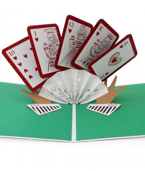 Royal Flush pop up card
