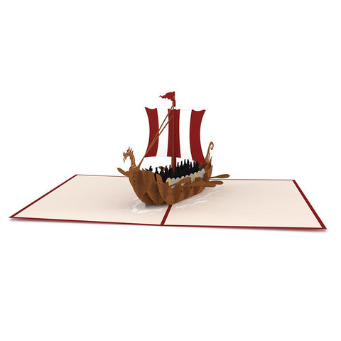 Viking Ship Pop up Card greeting card -  Lovepop