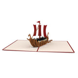 Viking Ship                                   pop up card - thumbnail