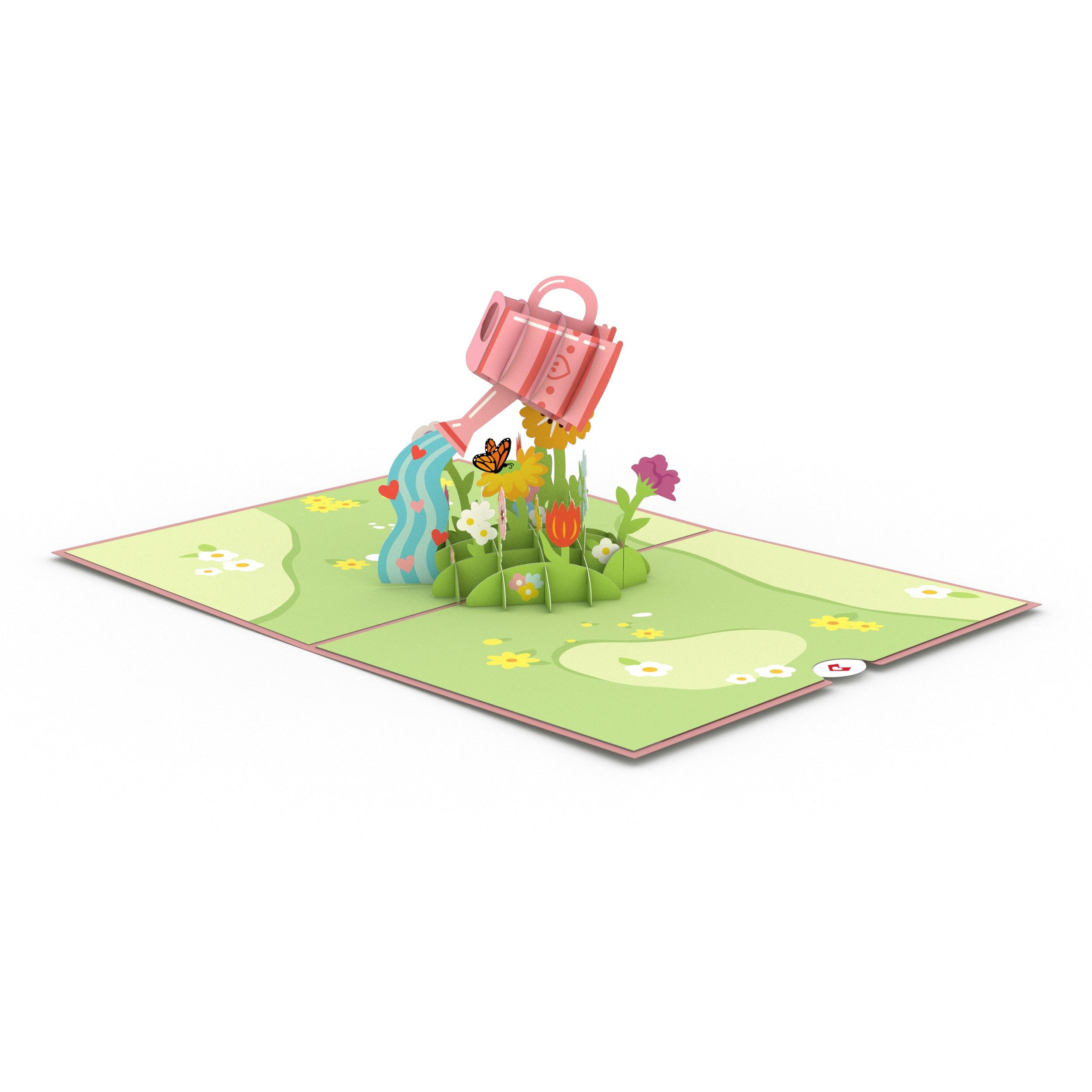 Mother's Day Watering Can 3D card