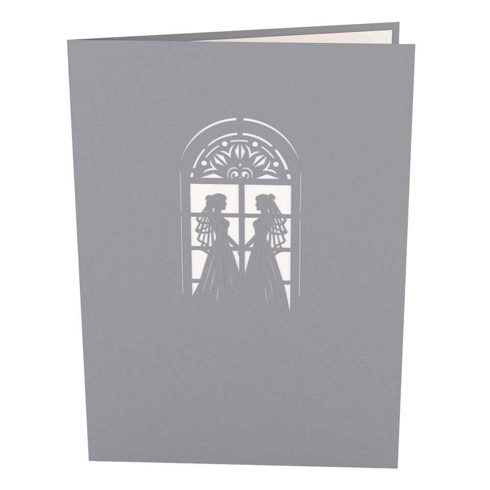 Wedding Chapel Brides pop up card