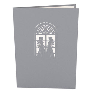 Wedding Chapel Brides Pop Up Wedding Card