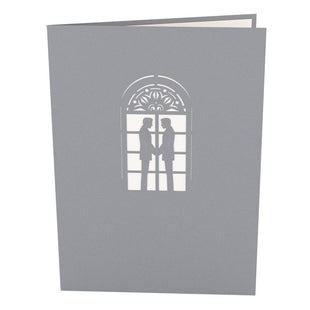 Wedding Chapel Grooms Pop Up Wedding Card