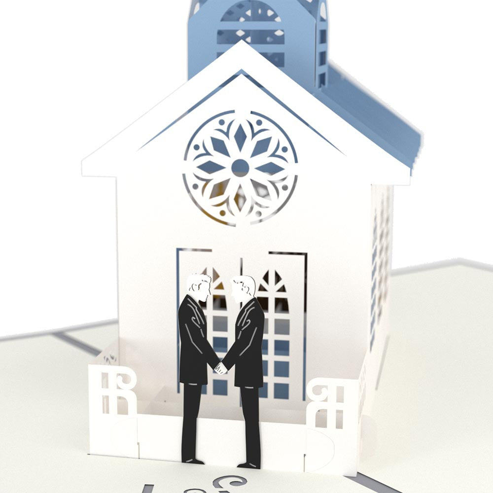 Wedding Chapel Grooms pop up card
