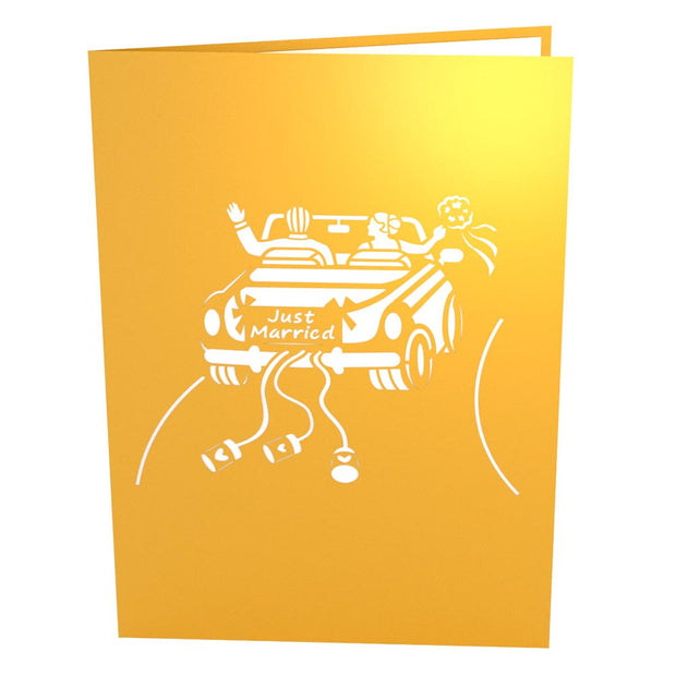 Wedding Car Pop Up Wedding Card