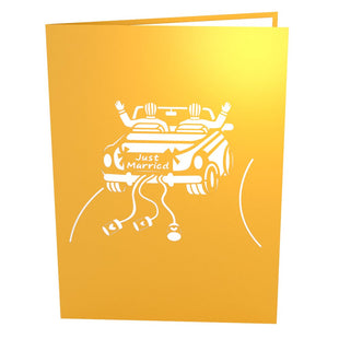 Wedding Car Grooms Pop Up Wedding Card