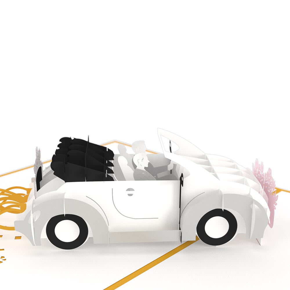 Wedding Car Grooms pop up card