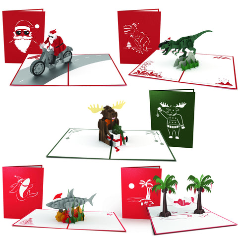 Whimsical Christmas Pop-up Card 5 Pack greeting card -  Lovepop