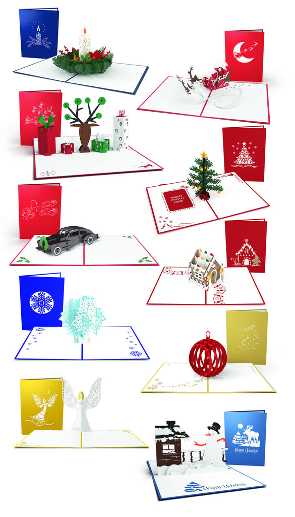 White Elephant Christmas 10 Pack pop up card