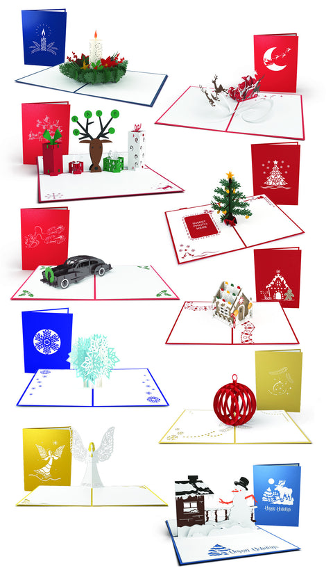 White Elephant Christmas Pop-up Card 10 Pack greeting card -  Lovepop