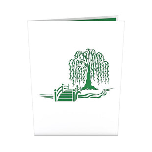 Willow Love Scene Pop-up Anniversary Card