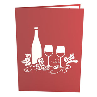 Wine Glass Pop Up Birthday Card