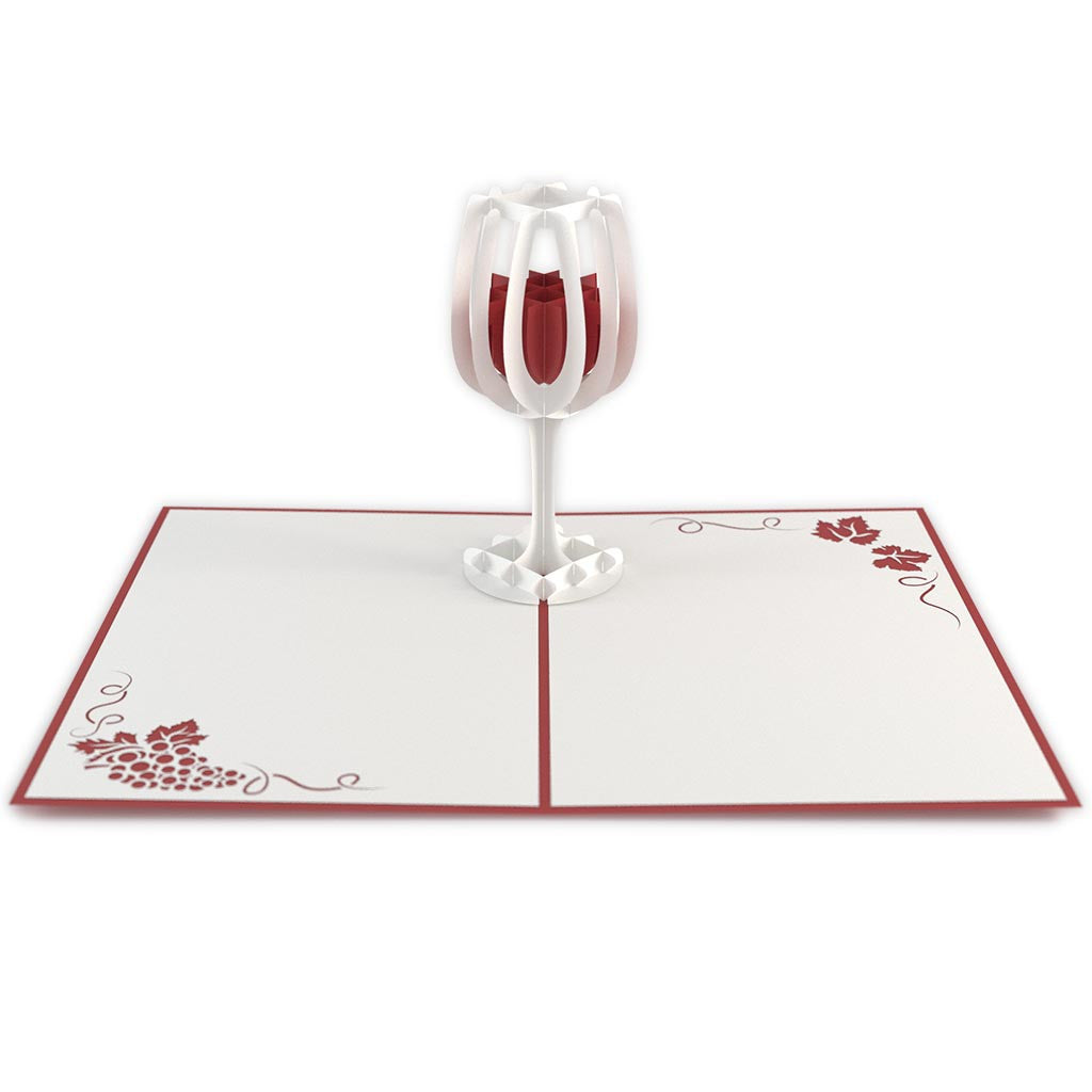 Wine Glass birthday pop up card