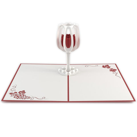 Wine Glass Pop Up Birthday Card greeting card -  Lovepop