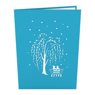 Winter Willow Scene Pop up Card