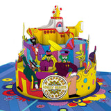 The Beatles Yellow Submarine Birthday Cake pop up card - thumbnail
