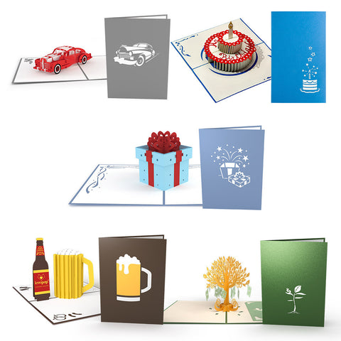 Birthday Pack greeting card -  Lovepop