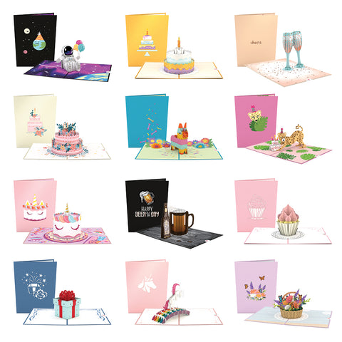 Birthday 12 Pack greeting card -  Lovepop