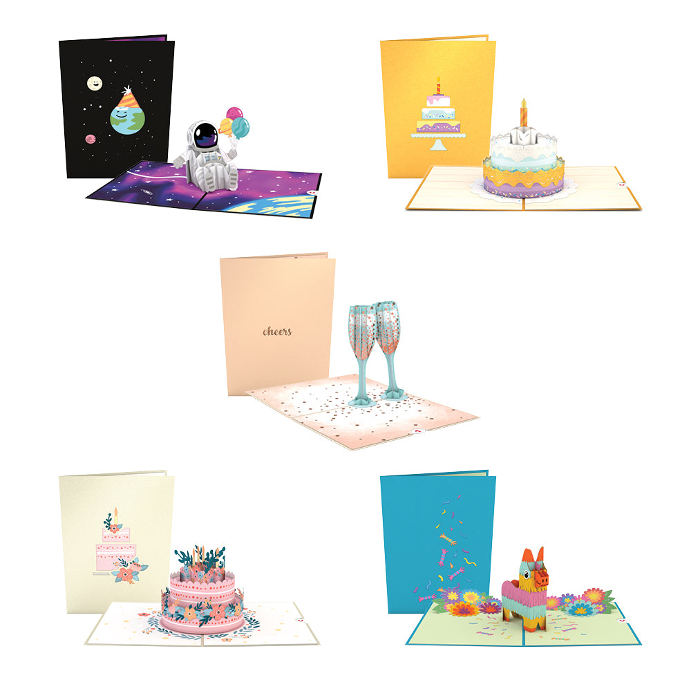 Birthday 5 Pack pop up card