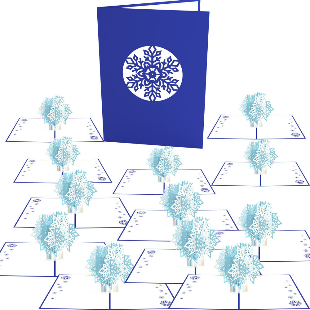 Snowflake Blizzard 12 pack pop up card