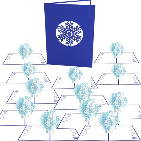 Snowflake Blizzard 12 pack greeting card -  Lovepop