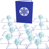Snowflake Blizzard 12 pack pop up card - thumbnail