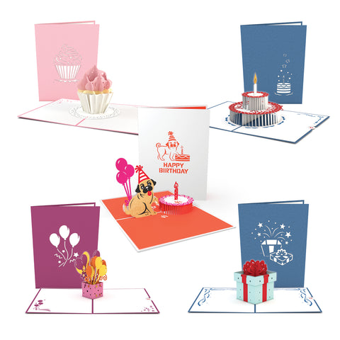 Birthday Card 5 Pack greeting card -  Lovepop