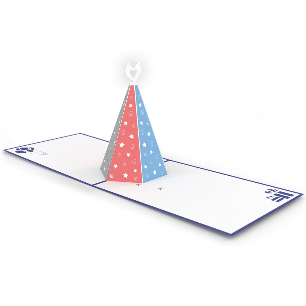 Pastel Party Hat pop up card
