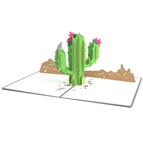 Saguaro Cactus 3D Pop Up Card greeting card -  Lovepop
