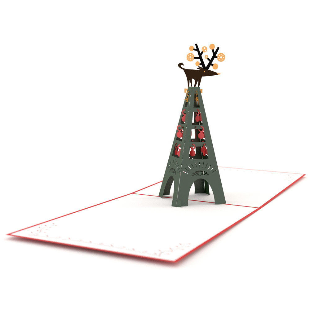 Christmas Eiffel pop up card