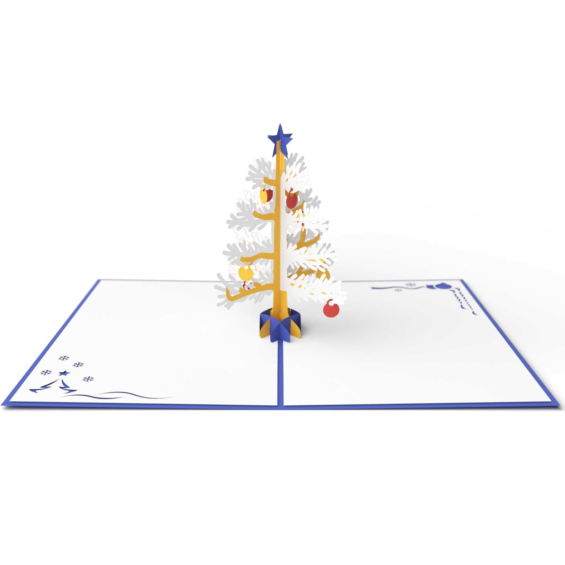 3D Christmas Tree Pop Up Holiday Card (Blue) - Lovepop