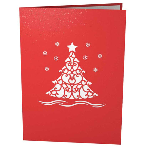 Christmas Tree Pop Up Holiday Card popup card cover - Lovepop