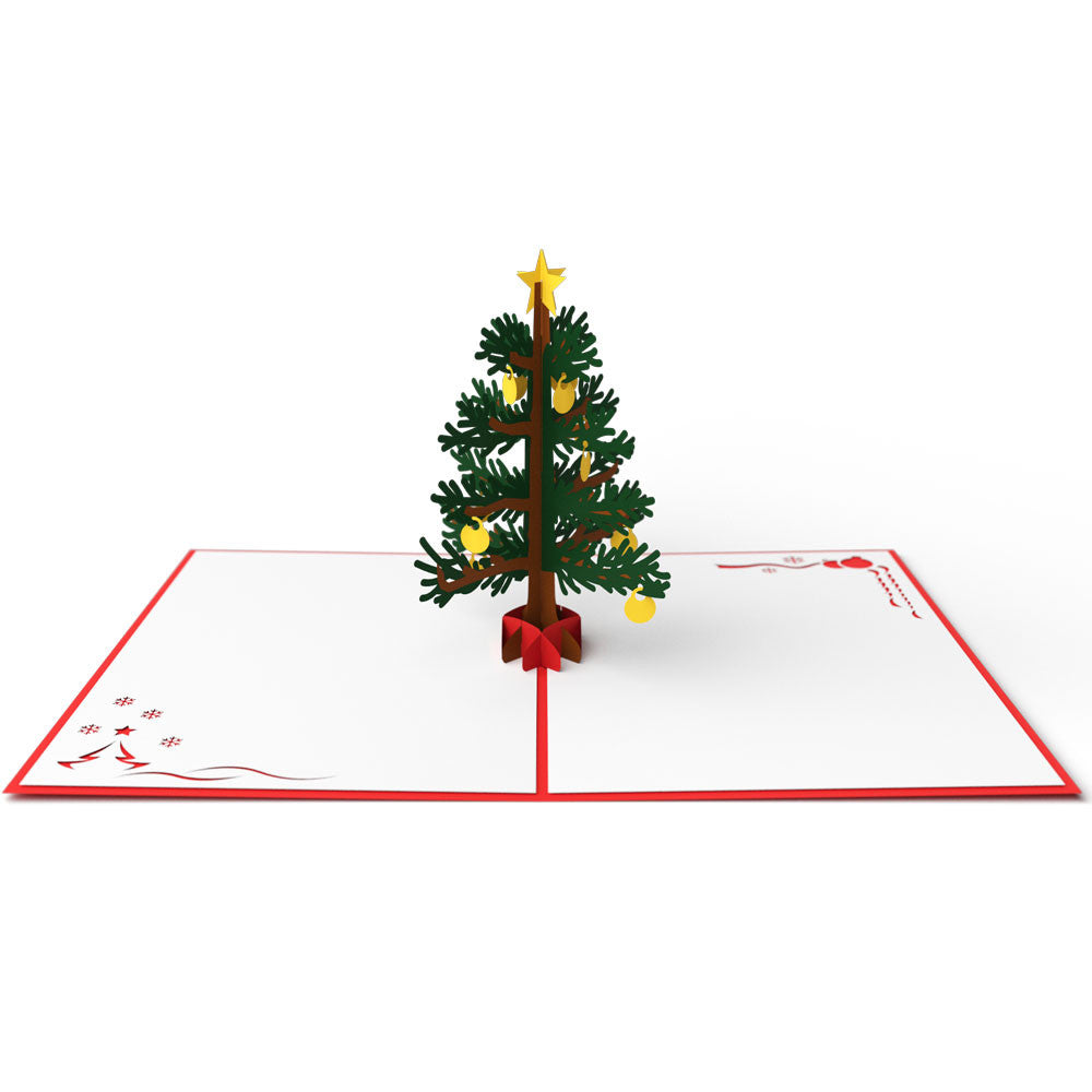 Christmas Tree Red pop up card