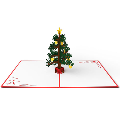 Christmas Tree Pop Up Holiday Card 3D pop-up card open -  Lovepop
